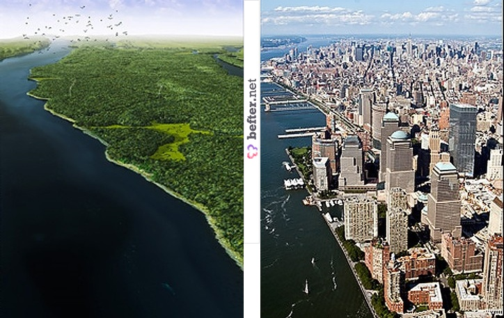Unrecognizable Before And After Views Of Cities From Around The - Before and after world