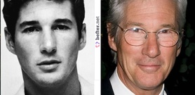 Richard Gere - before and after (image hosted by befter.net)