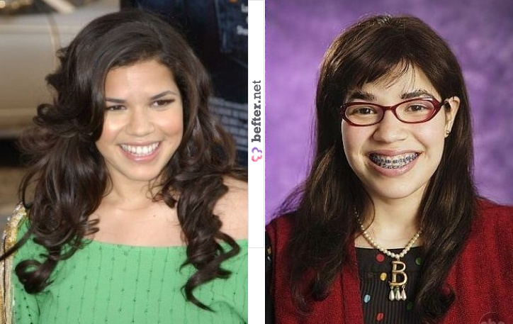 america ferrera ugly betty makeover. hair hair ugly betty after
